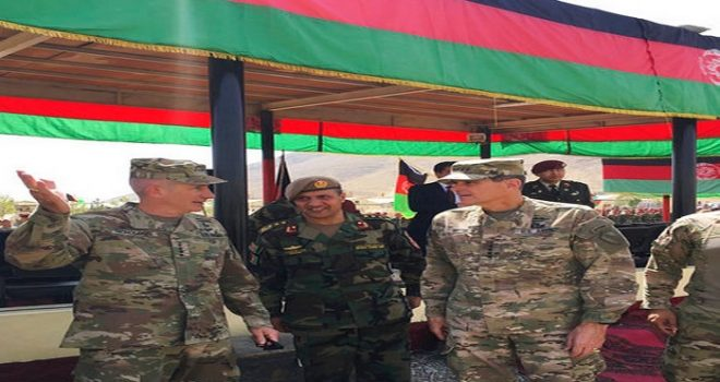 The top U.S. Commander for the Middle East Visits Jizan Southern Saudi Arabian