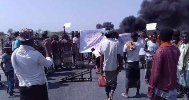 Yemen's south (Hadramout ).. Mukalla fishermen expand their protest in response to the practices of the UAE repressive acts