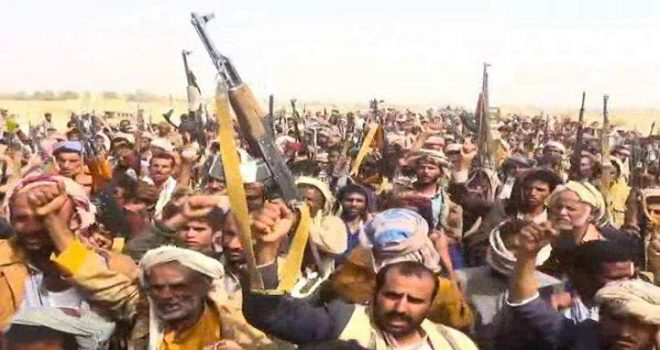 Thousands of Yemenis participate in the march of guns in honor of assassinated President