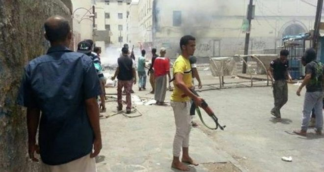The Saudi-led coalition's clashes between its troops and paid fighters in southern Yemen
