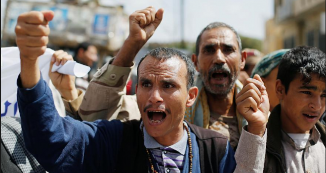 Capital of Sana'a Witnessed a Protest Rally to Condemn Cease-Fire Violation