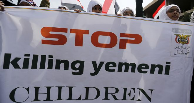 British Army Servicing Saudi Jets Bombing Civilians in Yemen