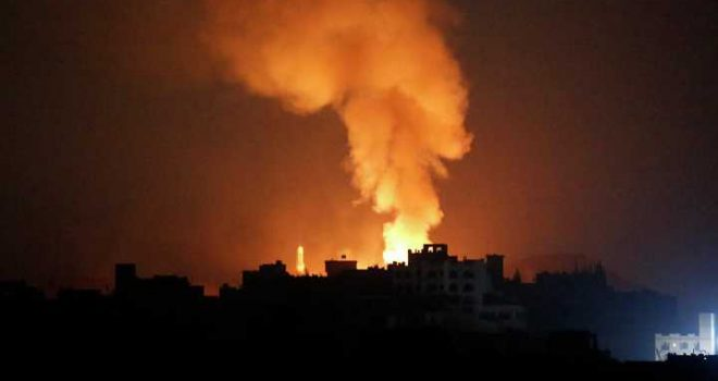 Saudi-Led Coalition Launches 15 Raids on Capital Sana'a